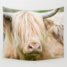 Scruffy Cow Wall Tapestry
