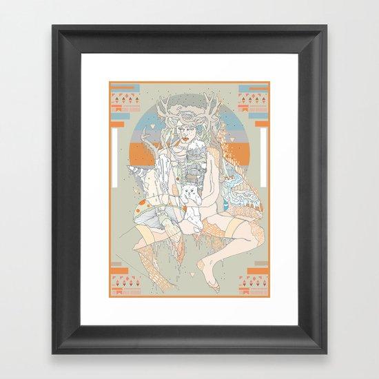 pink dakota Framed Art Print