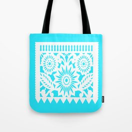 OLE - Papel Picado - square pillow - turquoise Tote Bag