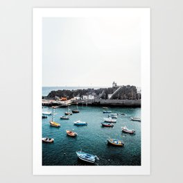 Boats Coast Photography Art Print