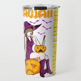 Kawaii Nightmare Halloween Anime Princess Witch Travel Mug