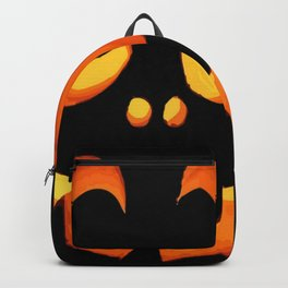 Vector Image of Friendly Halloween Pumpkin Backpack