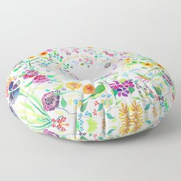 Flowers Appear on Earth - English Floor Pillow