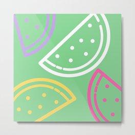 Fun Melon II Metal Print