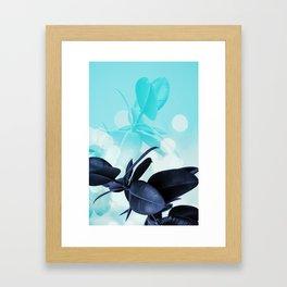 Ficus Light Blue Framed Art Print
