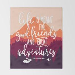Let's go adventure Throw Blanket