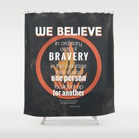 divergent Shower Curtains featuring Dauntless Manifesto by Tiffany 10