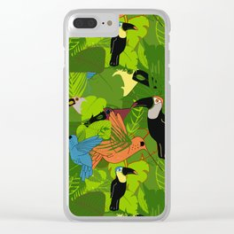 Tropical dawn, birds of paradise Clear iPhone Case