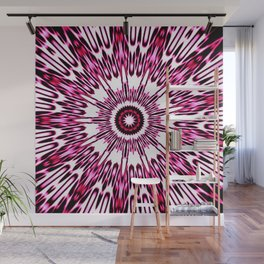 Pink White Black Explosion Wall Mural
