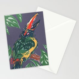 Green Aracari Stationery Cards