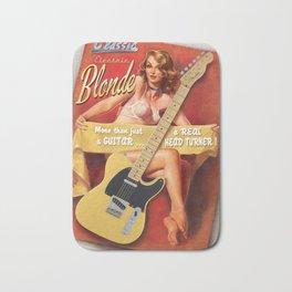Guitar Girl 02 'Classic Blonde' Bath Mat