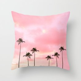Palm Trees Photography | Hot Pink Sunset Deko-Kissen