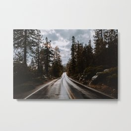 Rainy Day Adventures in the Forest Metal Print