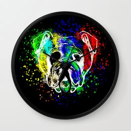 Bulldog,dog illustration Wall Clock