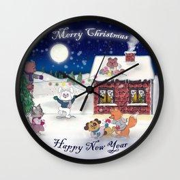 The happy Xmas'Group Wall Clock