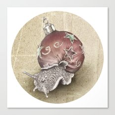 In which a snail is most festive this christmas  Canvas Print