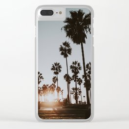 palm trees xxi / venice beach, california Clear iPhone Case