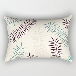 Bamboo branches and leaves Rectangular Pillow