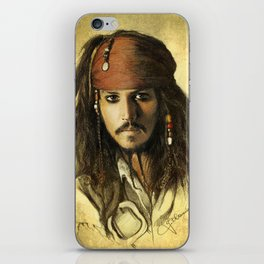 Portrait of a pirate iPhone Skin