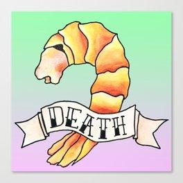 Shrimp Death Canvas Print