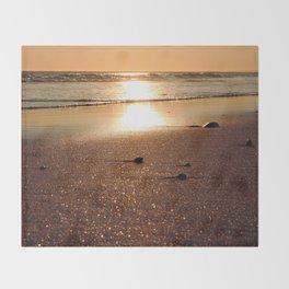 Sunset at Narragansett Beach Throw Blanket
