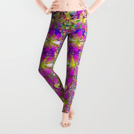 flower wall with wonderful colors and bloom Leggings