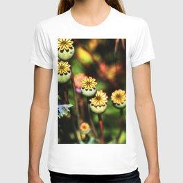 Poppy Flowers Pods T-shirt