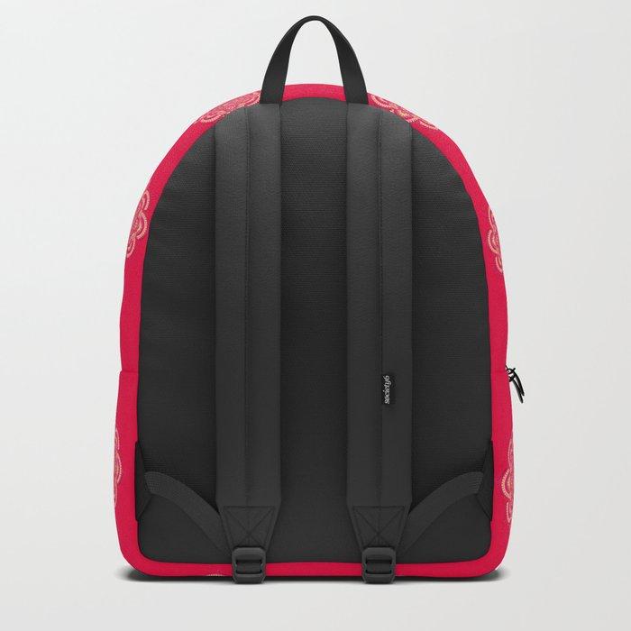 Namaste in Red Backpack