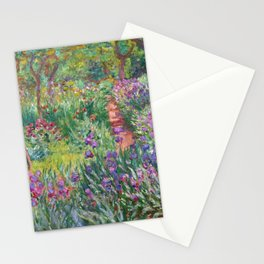 The Iris Garden at Giverny by Claude Monet Stationery Cards