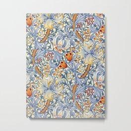 William Morris Golden Lily Victorian Wallpaper Metal Print