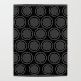 Black and Grey Circles | Mod Graphic Pattern #2 | Nadia Bonello | Canada Poster