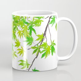 fresh green spring maple leaf Coffee Mug