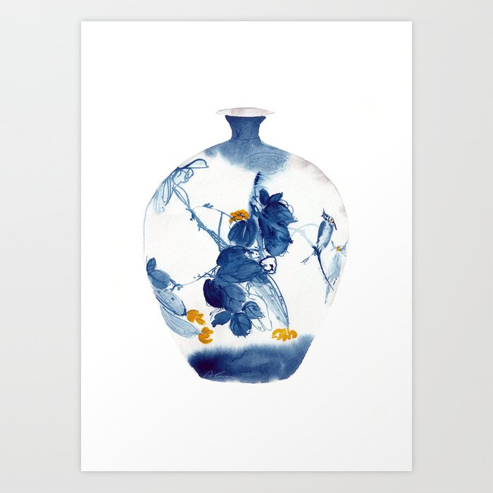 Chinese Vase 2 Art Print By Alaiacabodesing Society6