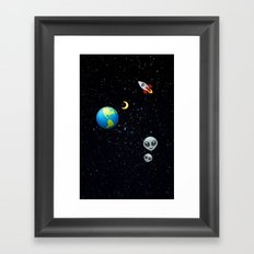 Space Emoji Framed Art Print