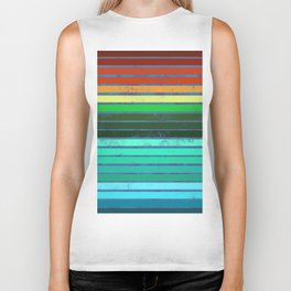 Colorful Lines Biker Tank