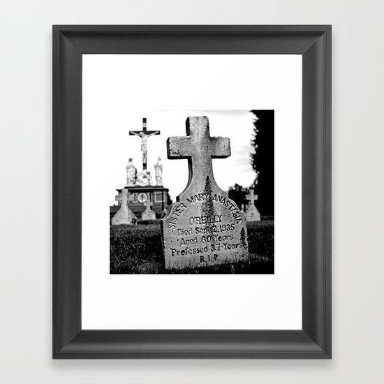 Sister Mary Framed Art Print