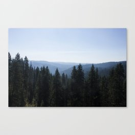 Scenic Tree Lined Valley Photography Print Canvas Print