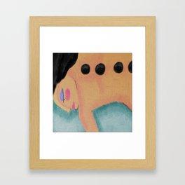 Hot Stone Massage Abstract Digital Painting  Framed Art Print