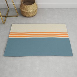 Modern Minimal Striped Blue 03 Rug