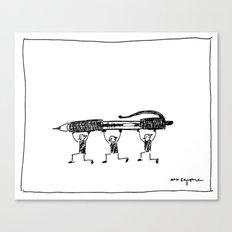 Pen Gremlins Canvas Print