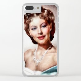 Ava Gardner, Hollywood Legend Clear iPhone Case
