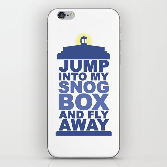 Snog Box (Tardis) iPhone & iPod Skin