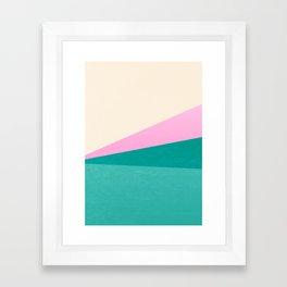 Stripe XIV Pink Summer Sunrise Framed Art Print