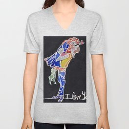 I Love You Unisex V-Neck