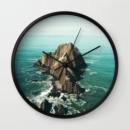 Island green sea Wall Clock