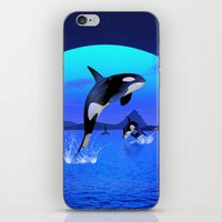 orca iPhone & iPod Skins featuring Orca by Simone Gatterwe