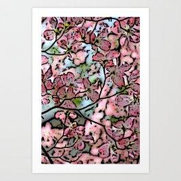 Blossomin pinl Art Print