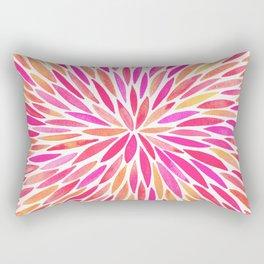 Watercolor Burst – Pink Ombré Rectangular Pillow