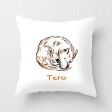 Tero Sleeping I Throw Pillow