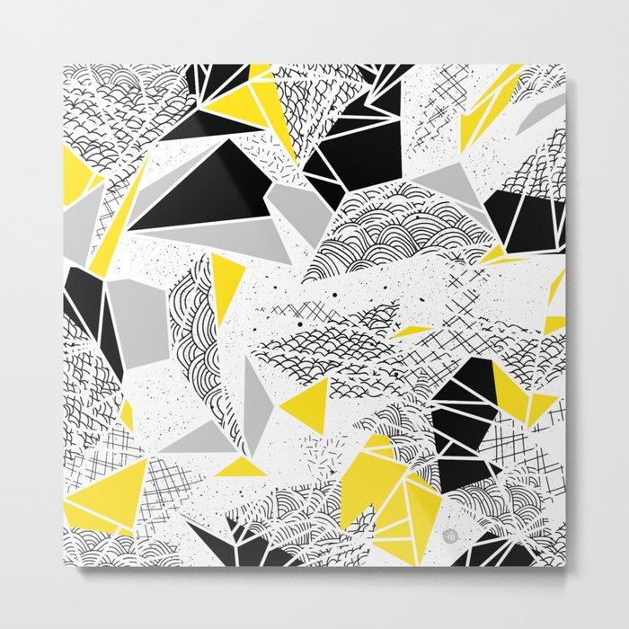 Geometric abstract textures Metal Print